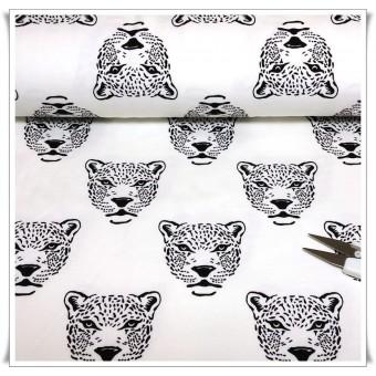 Tela de punto Leopardos