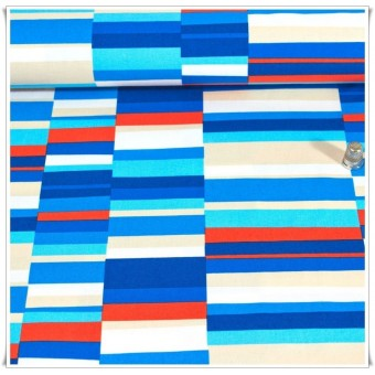 Loneta Pop Stripes Blue