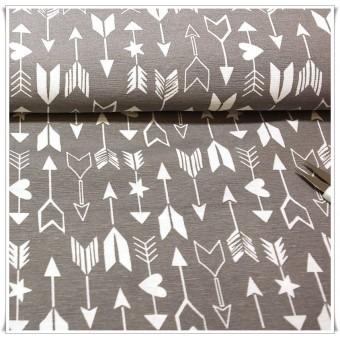 Loneta flechas gris