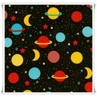 Tela planetas negro