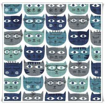 Sassy cats blue