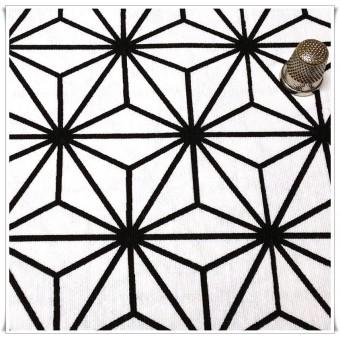 Loneta panel geometrico b&n