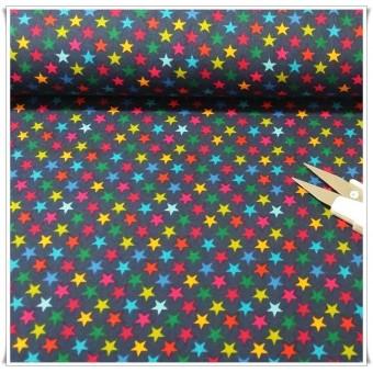 Tela estrellas multicolores