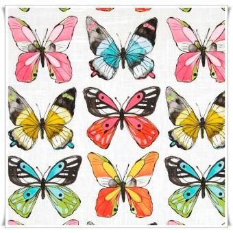Retal tela mariposas acuarela 48 x 94 cms