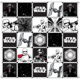 Retal tela Star Wars Grid Black - 60 cms