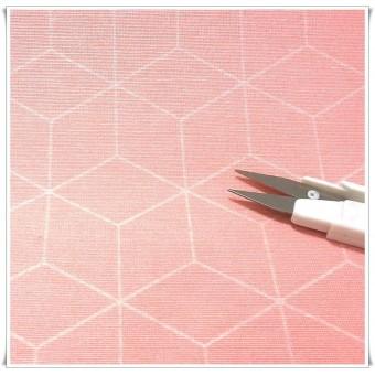 Retal loneta cubos rosa 60cms