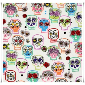 Tela flower eyes skulls