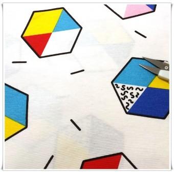 Loneta hexagonos