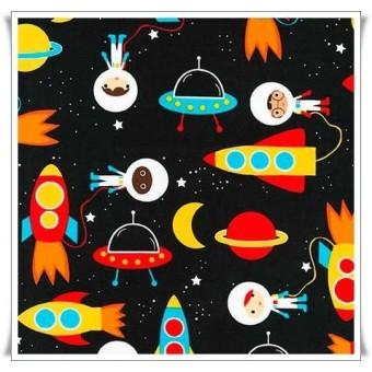 Retal tela exploradores del espacio 23 cms