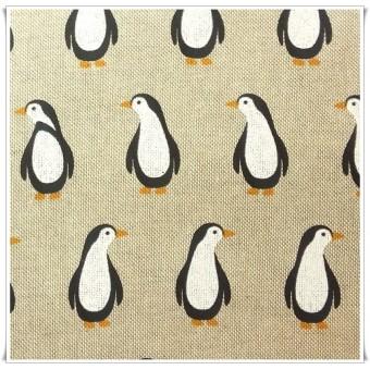 Retal loneta pinguinos 39 x 76 cms