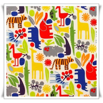 Fat quarter tela 2d zoo intenso