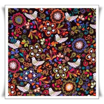 Fat quarter palomas jardin