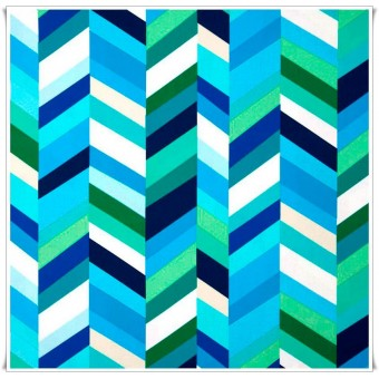 Tela Pop Chevron Lagoon