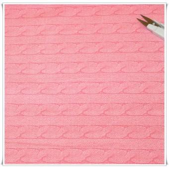 Tela imitacion jersey lana rosa