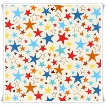 Tela estrellas crema