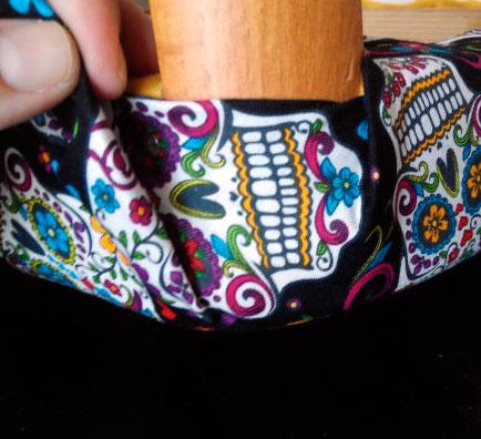 Silla tapizada calaveras