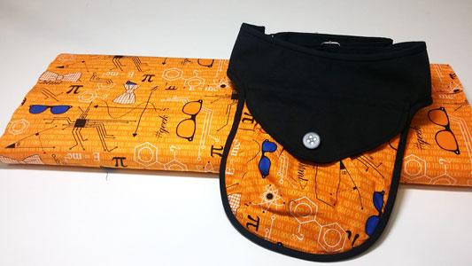 bolsito riñonera con tela geek