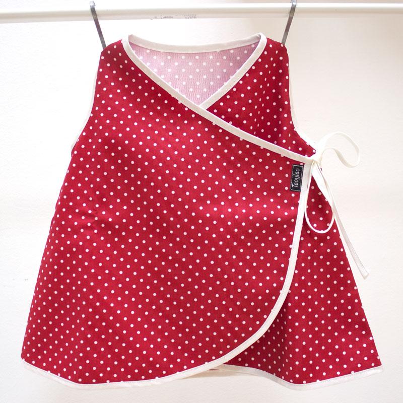 Vestido bebe tela pique rojo