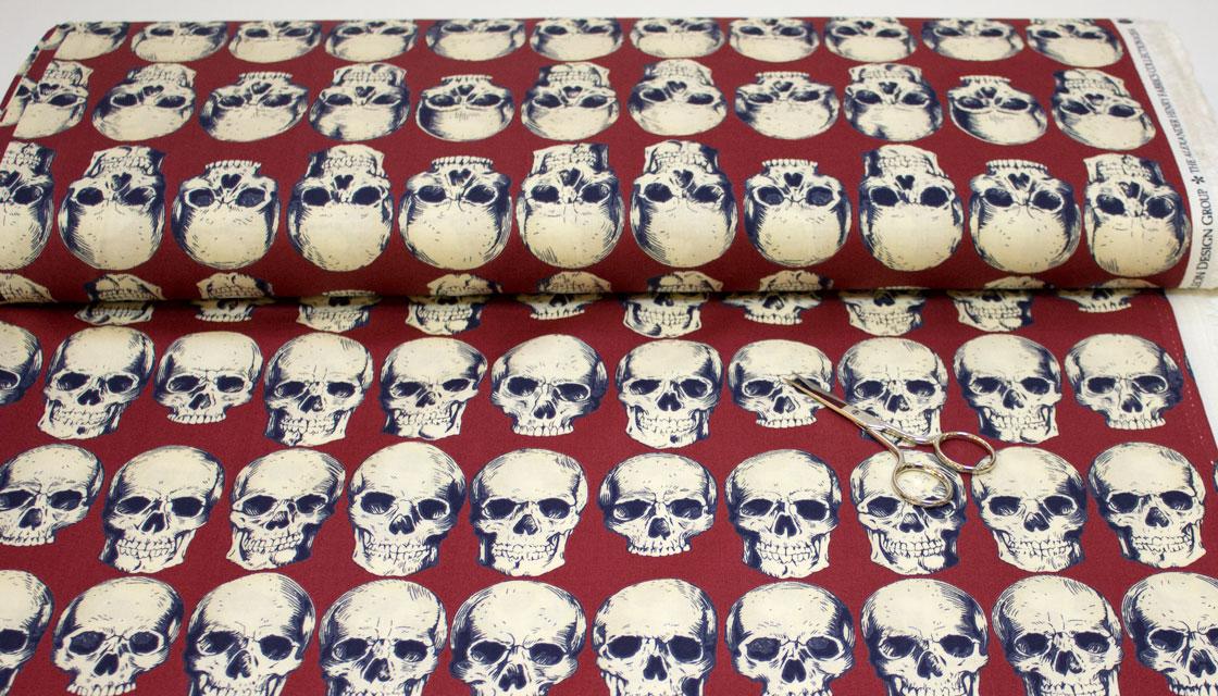 Rollo de tela de calaveras rad skulls