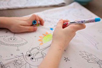 Tela para pintar niños