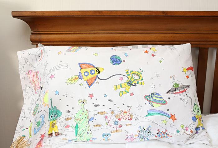 Funda almohada tela niños