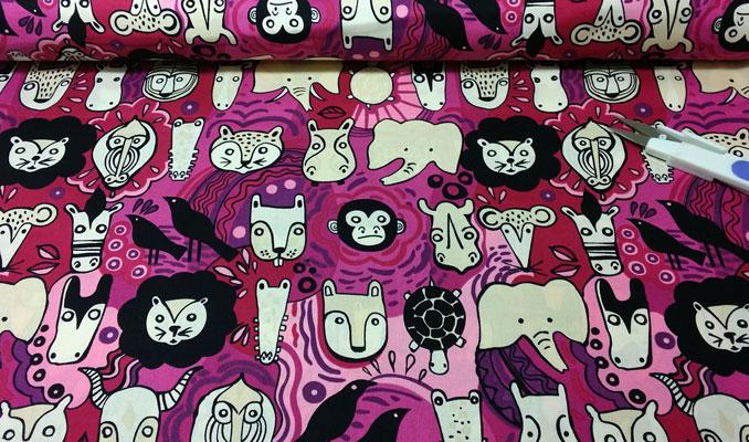 Muestra tela Faces Animals