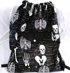 tela esqueleto nombres mochila