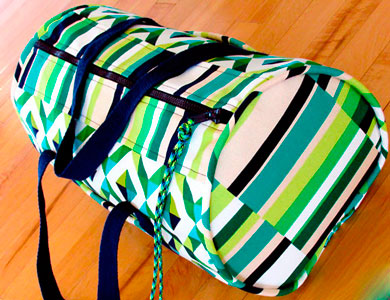Bolsa deporte tela Stripes Emerald