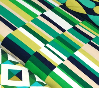 Tela loneta stripes emerald