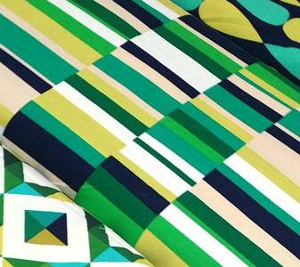 Tela loneta stripes emerald