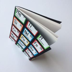 Tela tabla periodica quimica libro forrado