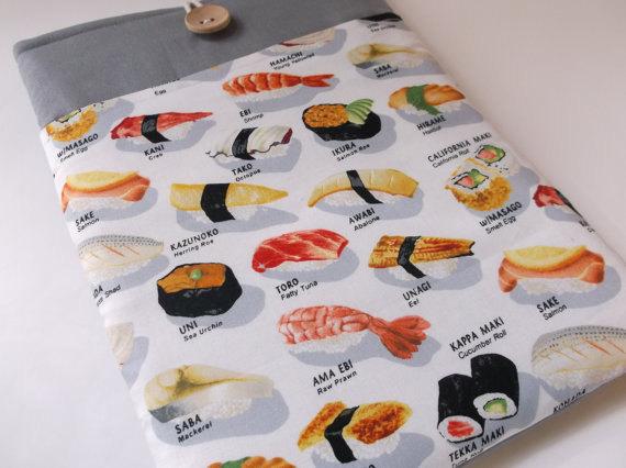 Funda ipad tela sushi