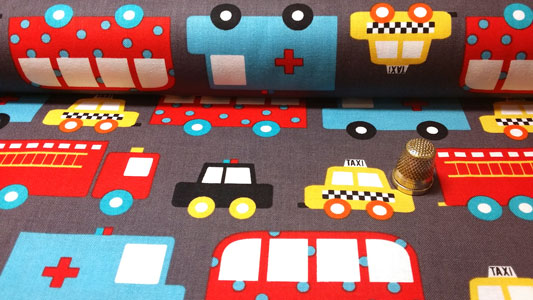 Rollo tela infantil traffic jam
