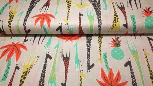 Detalle tela Giraffes Michael Miller