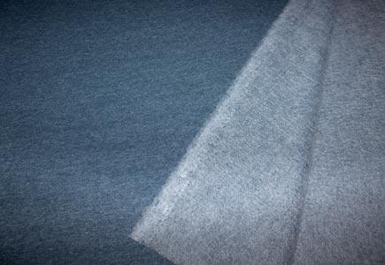 Detalle tela sudadera azul petrol