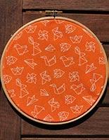 Detalle tela origami