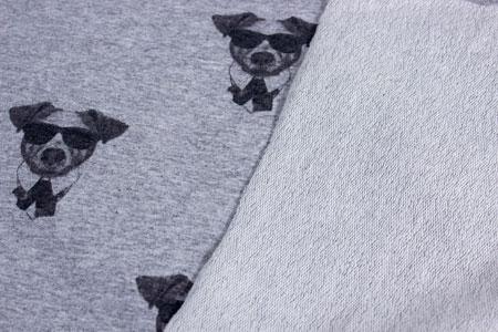 Detalle cara trasera tela camiseta