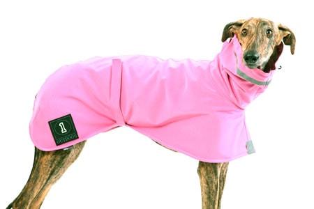 Abrigo para perro con tela soft shell rosa