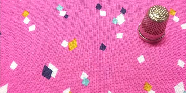 Tela dance pink detalle del dibujo