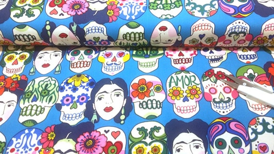 Detalle tela Frida turquesa