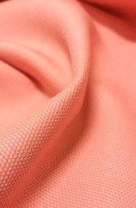 Detalle loneta rosa coral