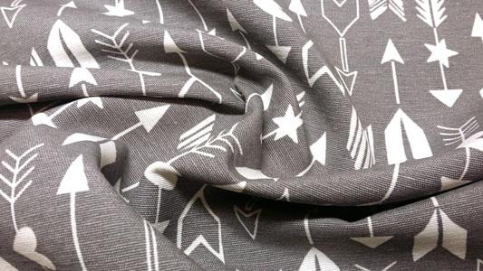 Detalle loneta flechas gris
