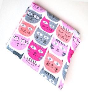 Tela sassy cats pink retal