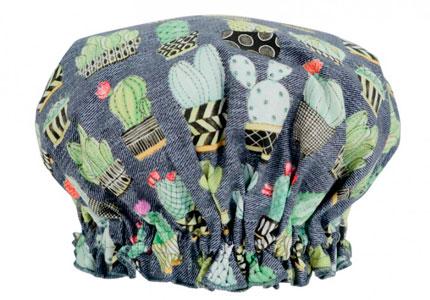 Gorrito para la ducha con tela de cactus