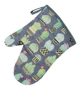 Guante de cocina con tela cactus