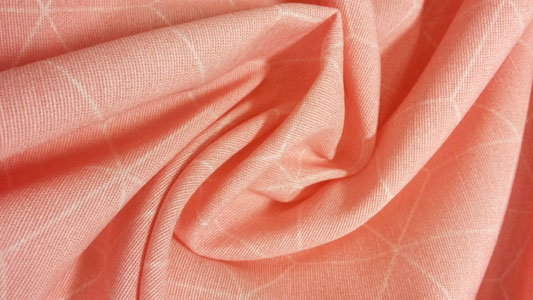 Loneta arrugada cubos rosa