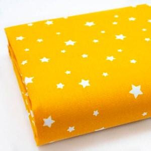 Tela estrellas amarillo mostaza