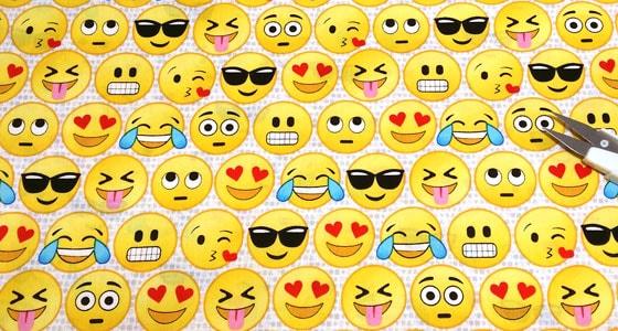 Detalle tela emoticons