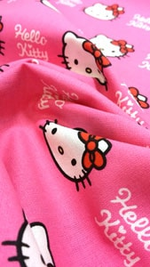 Detalle tela hello kitty