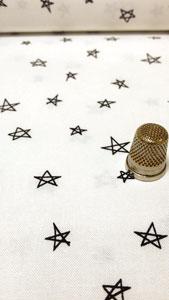 Detalle tela estrellas
